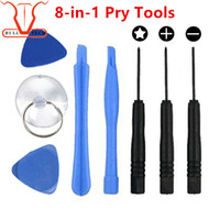 Wholesale Opening Tool Iphone - 8 in 1 Repair Pry Kit Opening Tools With 5 Point Star Pentalobe Torx Screwdriver For APPLE iphone 4S 5 6 6S Plus