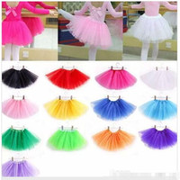 Wholesale Dance Wear Ballet Girl - baby Tutu Skirt Princess Dance Party Tulle Skirt fluffy chiffon skirt girls Ballet dance wear Party costume Baby girl clothes Free shipping