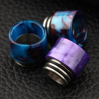 TFV8 SS Epoxy Resin Drip Tips Fit TFV8 Atomizer Tanks Kennedy RDA Acier inoxydable + Résine époxy Embouchures à gros trous 810