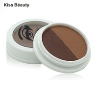 Wholesale Brow Cake Powder - Wholesale- Professional Cosmetics Eyeshadow Eye Brow Makeup 2 Colors Waterproof Eyebrow Cake Powder Palette Make Up Brand New
