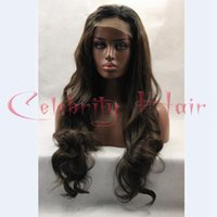 Wholesale Long Lace Front Heat Wig - New Hair Style Synthetic Lace Front Wigs With Baby Hair Long Body Wave Front Lace Wig Synthetic Lace Front Wig Heat Resistant