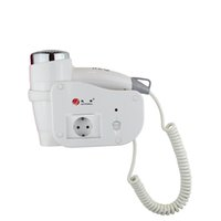 Wholesale hair salon wall - Wholesale- Hair Blow Dryer Wall Mounted Hotel Household Salon Equipment Convenient Professional Anion Hot Cold Adjustable Care Hairdryer