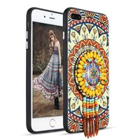 Wholesale G4 Chinese Mobile Phone - For Samsung S8 S8+ Note 5 Motorola G5 G4 Plus Apple iPhone 6s 7 7Plus 5 SE Huawei P8 Lite P10 Plus Mate 9 Ethnic Bohemian Mobile Phone Case