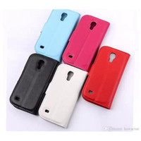 Wholesale Case Function S4 - Lichee Pattern Flip Cover for Samsung Galaxy S4 S4 MINI S5 Note 4 Edge Alpha A5 with Stand Function Credit Card Holder Solid Color TPU Case