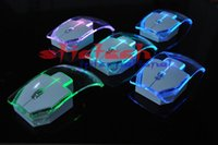 Da DHL o EMS 200pcs 2.4G mouse wireless mouse trasparente Ultra-thin 1000DPI Gaming Mouse per il computer