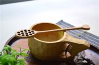 Wholesale Jar Favors - wedding favors party favors long wood honey bees spoon honey jar dipper stick 7.08 inch