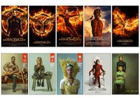 Wholesale Hunger Games Movie Poster - Wholesale- 10 pcs set The Hunger Games 3 Movie Poster Souvenir Card Sticker DIY Decoration Anti-Dust Bus ID Card Stickers 1351