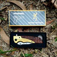 Browning DA77 Outdoor Hunting Knife 57HRC alta durezza 5Cr15Mov in acciaio inox Straight Knives Fixed Blade Jungle Adventure Survival Tools