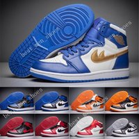 Wholesale Denim Retro Top - Discount New RETRO 1 OG High Top 3 mens Basketball Shoes sneakers running shoes for men high quality jumpman 1s sports shoe Casual Shoes