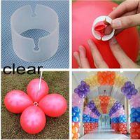 balon klipsleri mühürleri toptan satış-Balonlar konnektörler klip mühür tutucu kravat helyum aracı arch Sütun Craft Doğum Günü Düğün Parti için bebek duş Dekorasyon DIY