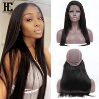 Wholesale European Remy Wigs - Human Hair Lace Front Wigs 100% Brazilian Remy Hair Lace Human Hair Wigs 13*3 Straight Lace Front Wigs For Black Women