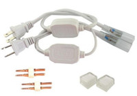 pinli fiş kablosu toptan satış-110 V 120 V 220 V 230 V 240 V AB ABD Güç Kabloları Fiş 3528 5050 LED Şerit Işıklar için 2 PIN İğneler ve Uç Kapakları ile MYY