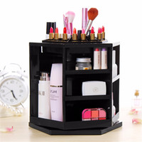 Wholesale Luxury Spinning Cosmetics Organizer ABS Plastic Tabletop Degree Spinning Cosmetics Organizer Display Box Storage Holders Makeup Stand