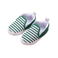Wholesale Baby Old Navy - Navy Striped Fashion Baby Toddler Cotton Blend Unisex Shoes Soft Sole 0-2 Years Old Khaki Dark Blue