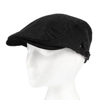 Wholesale-Men Women Unisex Fashion Solid Cotton Beret Hat Buckle Papel ajustável Boy Stylish Newsboy Cabbie Gentleman Cap