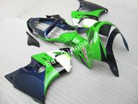 untere verkleidung für kawasaki ninja großhandel-Niedriger preis hohe qualität verkleidung kit für Kawasaki Ninja ZX6R 98 99 tief blau grün karosserien verkleidungen ZX6R 1998 1999 ET34