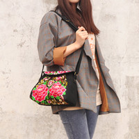 Wholesale Handmade Women Bags - National Shoulder Bag Crossbody Bags Woman Bag Chinese Message Bag Chinese Style Bags Handmade Embroidery Handbags fashion 94007