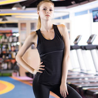 Wholesale Dry Fit Shirts Women - New Yoga Tops women Sexy Gym Sports Vest Fitness Running tight woman Sleeveless shirt Quick Dry Fit Tank Top Yoga Wear clothing