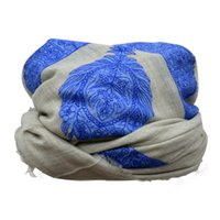 Wholesale Mens Arab embroidered wool Jacquard scarves Soft and Cool Unisex Accessory inches for you to choose KHN5