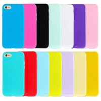 Fundas de caramelo para iPhone 7 plus Iphone7 I7 6G suave de silicona Gel Back Cover orden de la mezcla