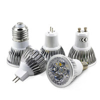 Wholesale bulb e14 12w online - High Power Cree Led Light Bulbs E27 B22 MR16 W W W Dimmable E14 GU5 GU10 Led Spot lights led downlight lamps