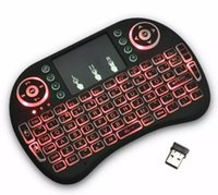 Wholesale Tv Pad Iptv - Mini Keyboard Backlit Mouse Multi-touch Pad 2.4G Rii i8+ Wireless Game Keyboard Fly Air Mouse Remote for MXQ Andriod TV Box IPTV