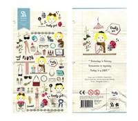 Wholesale Korean Diary Stickers - Wholesale- 1 PCS Fashion Girl Korean Sonia Stickers Cellphone Decal Diary Calendar Decorative Sticker Flakes 2018
