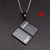 Others black death animations - Game animation surrounding the DEATH NOTE sweater chain DEATH NOTE pendant necklace Cartoon jewelry accessories