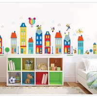 Wholesale Children Cartoon Background - Wall Stickers Living Room Children Background Cute Decoration Can Be Removed Water Proof Lovely Cartoon Sticker Fashion 4 5xy F R