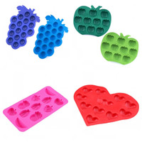 Wholesale Star Shaped Mold - Ice Cube For Drinks DIY Heart Fruit Five Pointed Star Shape Chocolate Mold Silicone Ices Maker Multi Design 2 2ys F R