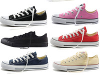 Wholesale Low Top Canvas Shoes Wholesale - New star big Size 35-46 High top Casual Shoes Low top Style sports stars chuck Classic Canvas Shoe Sneakers Men's Women's Canvas Shoes