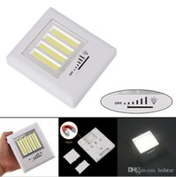 Wholesale Cob Technology - Dimmer Cob LED Wall Light With Switch ULTRA BRIGHT 4 COB 8W New LED Technology Project Light Night Light Battery Operated Cordless Magnetic