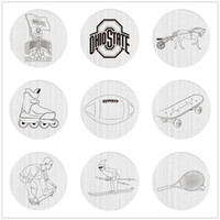 Wholesale Large Plates For Floating Locket - High Quality 22mm Stainless Steel Locket Charms Plate for Large Round Floating Glass Living Memory Lockets Necklace