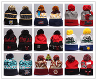 Wholesale Skull Caps Printed - 2017 new style basketball spring Autumn Winter Beanie Men Women Wool free shipping