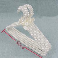 kleiderbügel plastik kinder großhandel-Ywbeyond 30 CM Kinder Kunststoff Perle Aufhänger Baby Kleiderbügel Haustiere Kinder Kunststoff Kleiderbügel Kind Wäscheständer Baby Shower 10 stücke