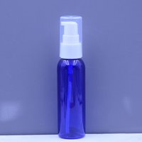 Wholesale Clear Plastic Pet Containers - 60ml high quality blue clear amber green pet plastic lotion refillable bottle container with clear lotion pump package container