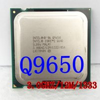 Wholesale Quad Core Processor 775 - Intel Core 2 Quad Q9650 for Original Desktop CPU 12M 3.0 GHz 1333 MHz LGA775 95 W Desktop Original Q 9650 disassemble Processor