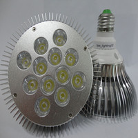 Wholesale E27 Par38 Led Warm White - Top CREE PAR38 LED Spotlight Light 36W 12X3W Par38 LED Bulb lamp Screw light exhibition hall lamp e26 e27 Warm White 110V 220V