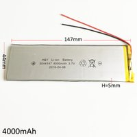 gps lityum piller toptan satış-Model 5044147 3.7 V 4000 mAh Lityum Polimer Li-Po DVD PAD Cep telefonu GPS Için Şarj Edilebilir Pil GPS bankası Kamera E-kitaplar Dizüstü TV kutusu
