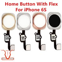 Wholesale Iphone Home Flex - For iPhone 6S Home Button Flex Main Menu Return Key Complete Assembly Cables Spare Replacement Rose Gold White Gold Black