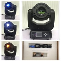6Xlot Neue 90W Gobo LED Moving Head Lights 3-Face Prisma mit LCD-Display DMX Controller 6/16 Kanal