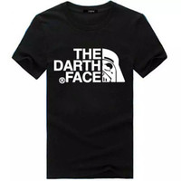 Wholesale Ivory Faces - Tide brand the face Darth t-shirt t-shirt men's foreign trade source printing short sleeved sports casual shirt