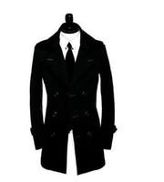 коричневые люди оптовых-Хаки коричневый 2017 новый дизайнер осень-весна тонкий сексуальный тренч пальто мужчины бизнес верхняя одежда Мужская тренч пальто пояс одежды S-9XL