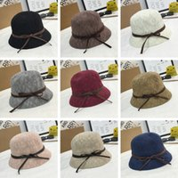 Summer Cloches New Bow Cotton Blend Solid Dome Top Mulheres Sun Hat Moda Beach Hats Fedoras