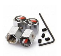 Wholesale Trd Badge Emblem - Anti-Theft Stainless Steel 4PCS Tire valve caps Volv0 TOYOT trd hondaa With Car Logo Badges Emblems With Retail Box