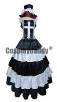 Wholesale Ghosts Games - One Piece Ghost Princess Perona Black White Long Dress Cosplay Costume