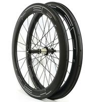 hubs de powerway r36 al por mayor-Envío gratis 700C 60mm profundidad 25mm ruedas de ancho carbono ruedas clincher / tubular bicicleta de carretera ruedas de carbono en forma de U llantas con hub powerway R36