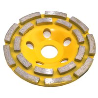 Wholesale Disc For Grinding Wheel - 115mm Double row cup grinding wheel Disc Bowl Shape Grinding Cup Concrete Granite Stone Ceramics Tools suitable for chamfering