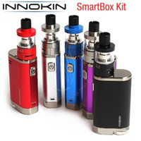 Wholesale Ecig Automatic - Original Innokin Smartbox Kit Automatic Smart Intelligent Wattage Control DTL MTL iSubV Coil Atomizer 18650 Vapor Box mods Vape pen ecig DHL