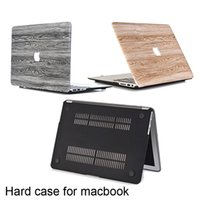Wholesale macbook hard - Notebook computer wood grain sticking Matte Hard Case Cover Protector for New Macbook Air11 Pro13 with Retina 15 inch Laptop Frosted Cases